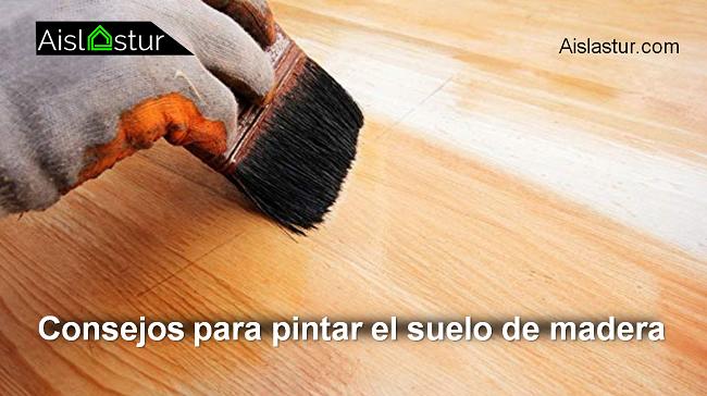 consejos para pintar el suelo de madera